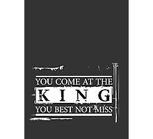 """You Come at the King, You Best Not Miss"" - The Wire (Light) Photographic Print"