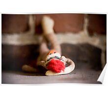 Sock Monkey Does Boudoir Poster