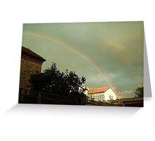 rainbow of hope in the gloom Greeting Card