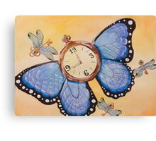 Clockwork Butterfly (Time Flies) Canvas Print