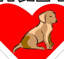 Labrador Retriever Love Sticker