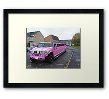 Pink on wheels. Framed Print