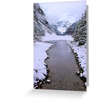 Lake Louise Frozen, Canada Greeting Card