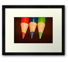 Three Colours Framed Print