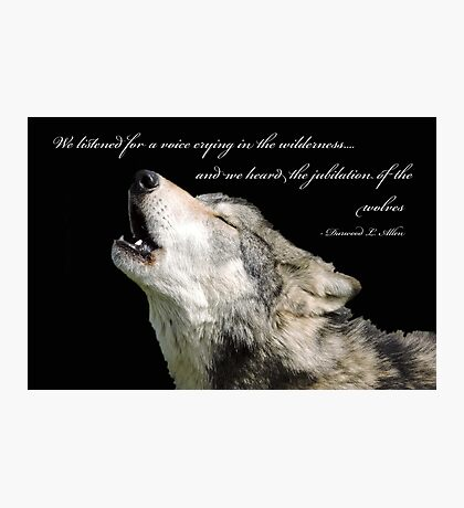The Jubilation Of The Wolves (V2) Photographic Print