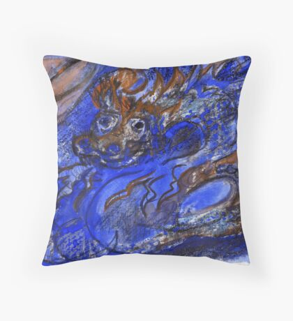Dragon of Earth and Ocean Throw Pillow