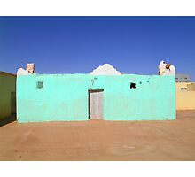 Beautiful Algeria - Turquoise Building Photographic Print