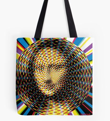 Psychedelic Mona Lisa Tote Bag