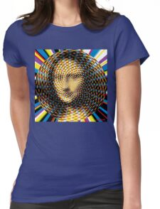 Psychedelic Mona Lisa Womens Fitted T-Shirt