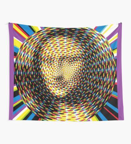 Psychedelic Mona Lisa Wall Tapestry