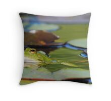 CUTE AND GREEN Throw Pillow