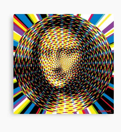 Psychedelic Mona Lisa Canvas Print
