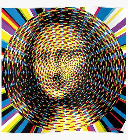 Psychedelic Mona Lisa Poster