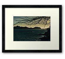 Landscape Aerial View of Taganga Bay in Colombia Framed Print