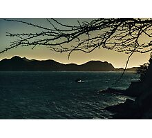 Landscape Aerial View of Taganga Bay in Colombia Photographic Print