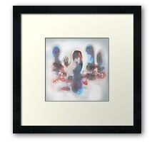 touch the screen Framed Print