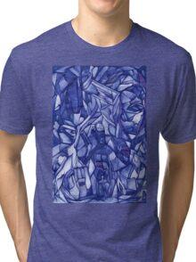 blue composition Tri-blend T-Shirt