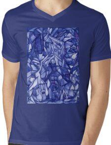 blue composition Mens V-Neck T-Shirt