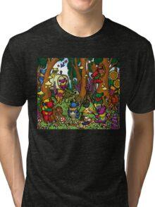 Grateful Dead Dancing Bears - Teddy Bear Picnic Tri-blend T-Shirt