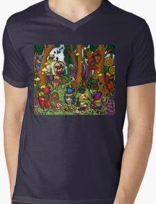 Grateful Dead Dancing Bears - Teddy Bear Picnic Mens V-Neck T-Shirt