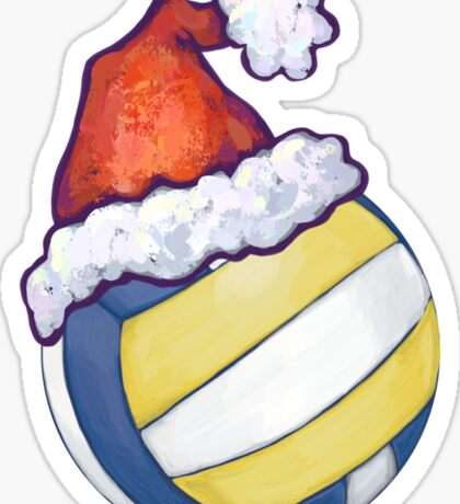 Volleyball Christmas Sticker