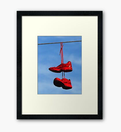 wired & hung-over Framed Print