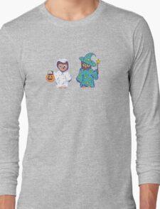 Trick or Treating Halloween Cartoon Owls Long Sleeve T-Shirt