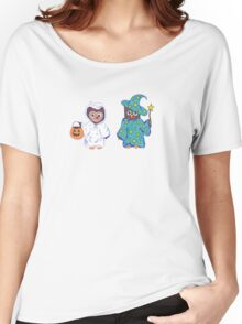 Trick or Treating Halloween Cartoon Owls Women's Relaxed Fit T-Shirt