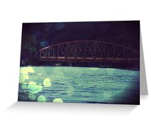The Silver Bridge Sandy Hook CT Greeting Card