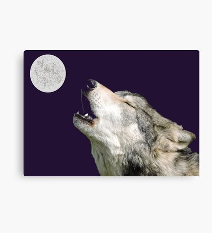 The Jubilation Of The Wolves (V3 Purple) Canvas Print