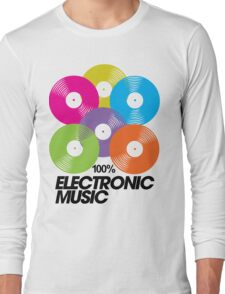 100% Electronic Music Long Sleeve T-Shirt