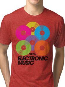 100% Electronic Music Tri-blend T-Shirt