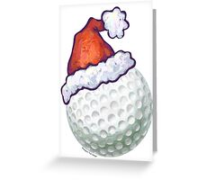 Golf Ball Christmas Greeting Card