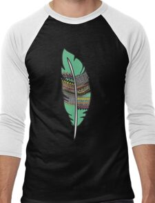 feather 2 - color 2 Men's Baseball ¾ T-Shirt