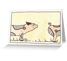 豚たち Greeting Card