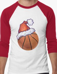 Basketball Christmas Men's Baseball ¾ T-Shirt
