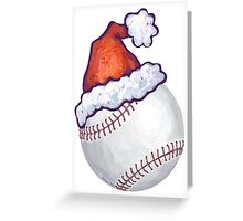 Baseball Christmas Greeting Card