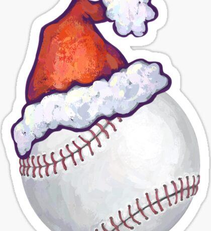 Baseball Christmas Sticker