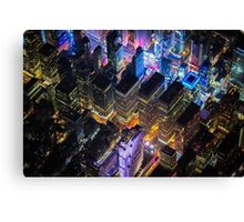 New York City At Night Pt 12 Canvas Print