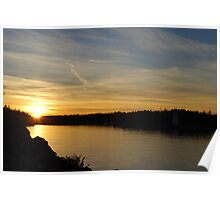 Sunset in Tobermory Poster
