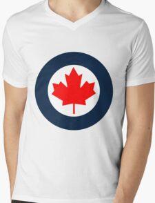 Royal Canadian Air Force Roundel Mens V-Neck T-Shirt