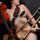 The Nude Musician PRINT! by Kelli Lynn  Sage