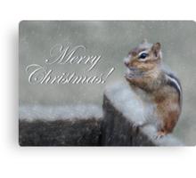 Chippy Christmas Canvas Print