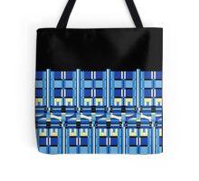 Tardis mosaic in blue Tote Bag