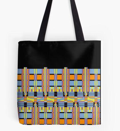 Tardis mosaic in blue and orange Tote Bag