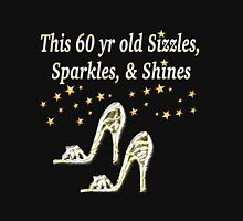 SPARKLING 60TH BIRTHDAY SHOE QUEEN Women's Fitted Scoop T-Shirt