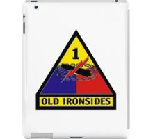 First Armored Division Logo iPad Case/Skin