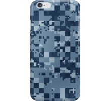 Cube Camo - Blue iPhone Case/Skin