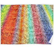 texured rainbow Poster