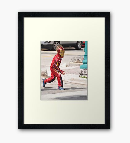 Action Hero ... Framed Print